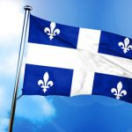 Quebec flag, 3D rendering